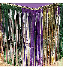 1 Metallic Foil Fringe Mardi Gras Table Skirt #31/110
