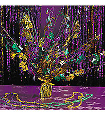 1 Mardi Gras Foil Burst Table Decoration #31/124