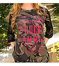 Southern Grace 'Camo & Bucks, Ammo & Trucks' Raglan #3127C *Choose Your Size