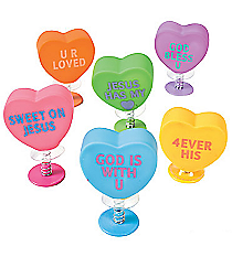 24 Religious Conversation Heart Pop-Ups #32/1558