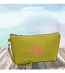 Lime Leather Wristlet #SW32503