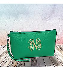 Sea Green Leather Wristlet #SW32508