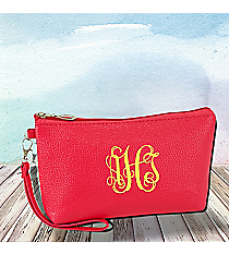 Hot Pink Leather Wristlet #SW32509