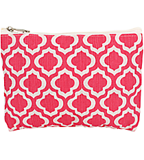 Pink and White St. Tropez Juco Cosmetic Bag #33775