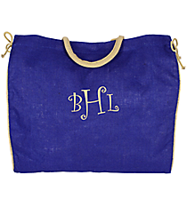Royal Blue Everyday Jute Tote Bag #34503