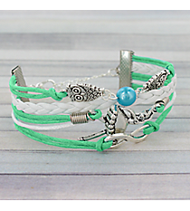 Multi-Strand Owls, Ballerina, and Infinity Bracelet #3488