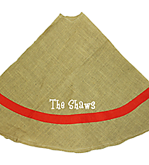 Jute Tree Skirt with Red Border #34998