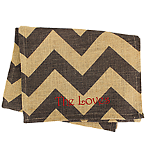 Gray and Natural Chevron Jute Small Runner #35077