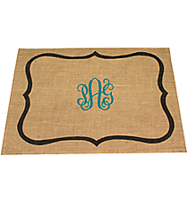 Natural and Gray Bracket Jute Placemat #35085