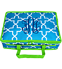 Turquoise Leighton Insulated Casserole Tote with Lime Trim #35226