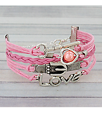 Multi-Strand Key, Pearl Heart, Belt Buckle, and Love Bracelet #3540