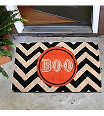 """""""Boo"""" Black Chevron Door Mat #35526"""