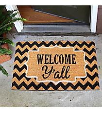 """""""Welcome Y'all"""" Door Mat #35527"""