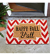 """Happy Fall Y'all"" Door Mat #35528"
