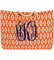 Orange Ikat Classic Juco Bag #35535