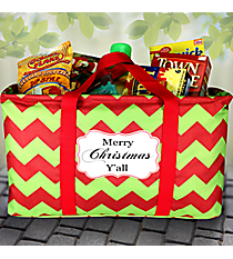 """Merry Christmas Y'all"" Chevron Market Tote #35730"