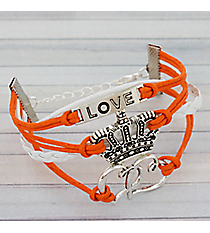 Multi-Strand Love, Crown, and Hearts Bracelet #3576