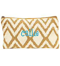 White and Natural Cailyn Juco Cosmetic Bag #35784
