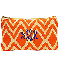 Orange and Natural Cailyn Juco Cosmetic Bag #35786