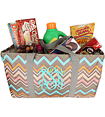 Multi-Color Lindy Chevron Large Collapsible Utility Tote #35876