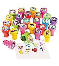 50 Plastic Religious Stampers #36/3005