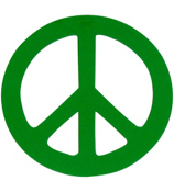 Peace Sign Vinyl Decoration SY#1 * Choose Your Color