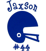 Football Helmet Vinyl Decoration SY#32 * Choose Your Color