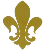 Fleur de Lis Vinyl Decoration SY#36 * Choose Your Color