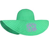 Turquoise Wide Brim Floppy Sun Hat #36401-TURQ
