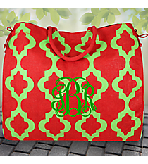 Red and Green Payton Oversize Jute Tote #36521