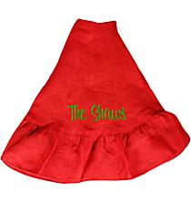 Red Ruffle Jute Tree Skirt #36535