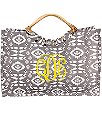 Gray Southwestern Jute Bag #36541-GRAY