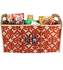 Orange Hayden Jute Trunk Organizer #36546-ORANGE