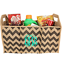 Gray Chevron Jute Trunk Organizer #36547-GRAY