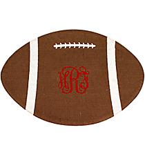 Football Burlap Jute Placemat #36559