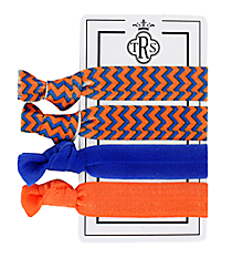 Set of 4 Orange and Blue Team Spirit Hair Ties #36575