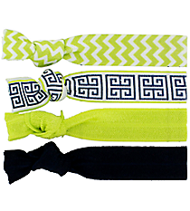 Set of 4 Lime Cape Cod Hair Ties #36576