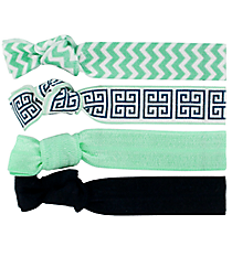 Set of 4 Mint Cape Cod Hair Ties #36576