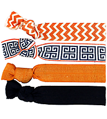 Set of 4 Orange Cape Cod Hair Ties #36576