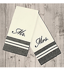 Black and White Mr. & Mrs. Hand Towels #36580