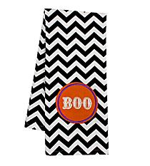 """Boo"" Black Chevron Hand Towel #36587-BOO"