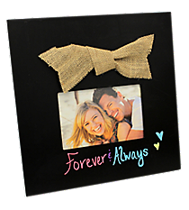 Chalkboard 4x6 Photo Frame with Burlap Bow #36661