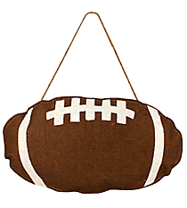 Burlap Football Door Hanger #36678