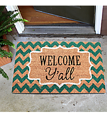 """Welcome Y'all"" Door Mat #36773"