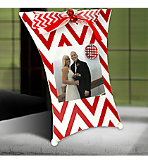 Red and White Chevron Magnetic Photo Holder #36823-CHEVRON
