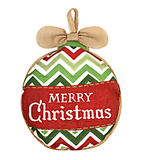Burlap Christmas Ornament Door Hanger #36826-ORNAMENT