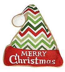 Burlap Santa Hat Door Hanger #36826-HAT
