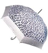 """48"""" Mega Leopard Print Umbrella #W041-SIL"""