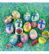 24 Religious Toy-Filled Eggs #4F-36/1133