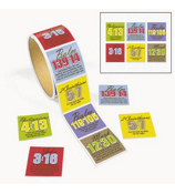 1 Roll of 100 Religious Passage Stickers #36/2178